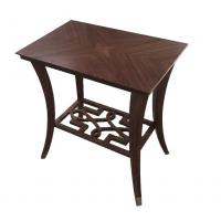 Buy cheap Glass top wood veneer square side table/end table/coffee table for 5-star hotel bedroom from wholesalers