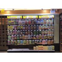 Buy cheap Wall Side Convenience Store Shelf Rack With Square Light Box 2.2M High / Retail Shop Shelving from wholesalers