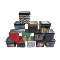 Buy cheap PVC Window Package Metal Tin Box With Lids , Metal Personalized Gift Boxes from wholesalers