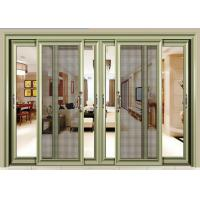 Buy cheap Custom Soundproof Glass Door , Mosquito Screens Aluminum Frame Glass Door from wholesalers
