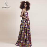 Buy cheap Elegant V Neck African Print Dresses Special Design For Women Africa Clothing from wholesalers