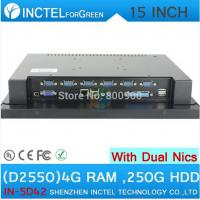 Buy cheap POS touchscreen all in one computer 15 inch with Intel D2550 1.86Ghz CPU 1024*768 HDMI 2*RJ45 6*COM from wholesalers