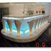 Buy cheap Nightclub LED commercial Elegant modern bar counter from wholesalers