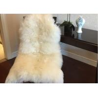 Buy cheap Home Decorative White Real Sheepskin Rug Long Merino Wool 60 X 90cm Natural Shape  from wholesalers