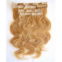 Buy cheap pure human remy clip in hair extensions from wholesalers
