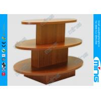 Buy cheap Custom Oval Shape 3 Step Wooden Store Displays Table for Gift Shops from wholesalers