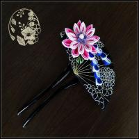 Buy cheap new design fashion handmade fabric flowers fabric brooch flower handmade chiffon flower from wholesalers