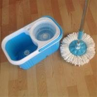 Buy cheap Magic Spin Microfiber Mop Bucket 2 Heads Rotating 360 Easy Floor Mop from wholesalers