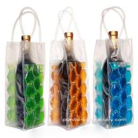 Buy cheap Reusable 750ML PVC Wine Chiller Bag With FDA Grade Chilling Gel And Tube Handles from wholesalers