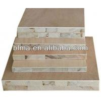Buy cheap 18mm Okoume face paulownia core blockboard for construction from wholesalers