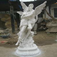 Buy cheap woman human lady stone statues hand carved sculptures outdoor marble statues decorations beige statues from wholesalers