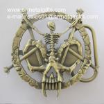 Buy cheap Metal Halloween skeleton pin belt buckle, Halloween day skeleton belt buckles from wholesalers