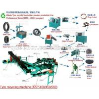 Buy cheap Waste tyre recycling line /Used tyre recycling plant/Reclaimed rubber recycling machine from wholesalers