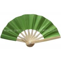 Buy cheap Personalized Single Color Printed Bamboo Green Paper Fans For Decorating from Wholesalers