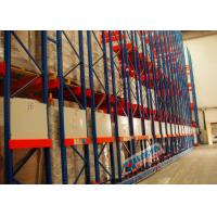 Buy cheap 4 PU Wheel Type High Density Mobile Storage Pallet Racks 24 Tons Per Unit Rail Guided product