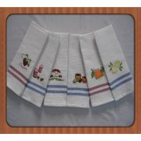 Buy cheap hot sale good quality embroidered branded kitchen tea towels wholesale product