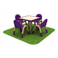 Buy cheap Square Children Table And Chairs Solid Wood For Amusement Park from wholesalers