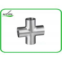 Buy cheap Butt Weld Straight Cross Fittings Stainless Steel Hygienic Fittings 15 Bar Pressure from wholesalers