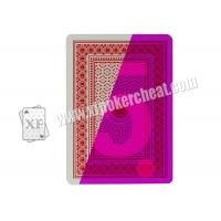 Buy cheap China 100% Plastic 4 Index Jumbo Poker Marked Playing Cards For Poker Cheat from wholesalers