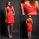 Buy cheap High Waisted Short SplitSkirt Graceful Red V Back Prom Dresses Sleeveless from wholesalers