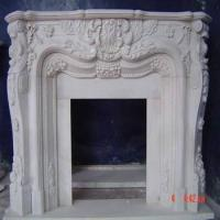 Buy cheap White Marble Fireplace from wholesalers