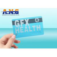 Buy cheap CR80 Size Clear transparent business card RFID with black magnetic stripe from wholesalers