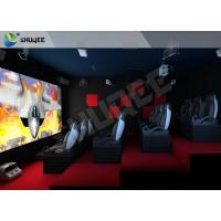 Buy cheap Red Motion Chairs 5D Theater System , 5D Cinema Simulator For Shopping Mall product