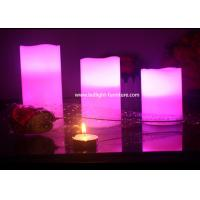 Buy cheap Multi Color Remote Control Battery Operated Candles 3 Piece / Set Security For Home from wholesalers