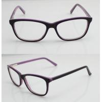 Buy cheap Purple & Black Vintage Oval Women Acetate Glasses Frames With Lightweight product