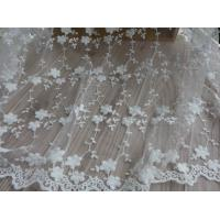 Buy cheap Embroidery Lace Cotton Flower Nylon Mesh Wedding Bridal Dress Fabric 49.21'' Width from wholesalers