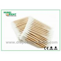 Buy cheap Single / Double Head Hospital Disposable Products Surgical Wooden Cotton Swabs 3 from wholesalers
