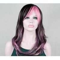 Buy cheap Layered Black Synthetic Wig For Women High Temperature Fiber Wigs from wholesalers