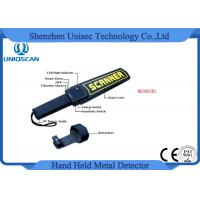 Buy cheap High Sensitivity Hand Held Security Detector , Metal Detector Scanner For Airport from wholesalers