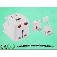 Buy cheap Word wide use universal travel adaptor with USB for gift and travel from wholesalers