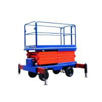 Buy cheap Auto electric scissor lifting platform 220v 80w with 1m - 18m Lifting height from wholesalers