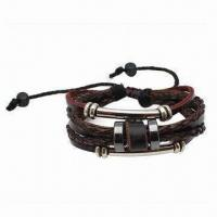 Buy cheap Genuine Leather Bracelet, Adjustable from wholesalers
