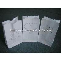 Buy cheap luminary lantern wax paper candle bags glowing paper candle bag tealight candle lantern product