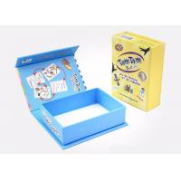 Buy cheap Pretty Cardboard Shirt Boxes , Magnetic Flip Top Box With Flocking Plastic Blister product
