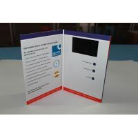 Buy cheap custom memory video brochure card with built - in speaker / Rechargeable battery , A5 size from wholesalers
