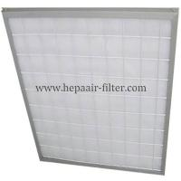Buy cheap Aluminum Frame Panel Primary Pleated Media Filter HEPA Air Conditioning Filters from wholesalers