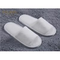 Nature Cotton Custom Hotel Slippers For Men And Women Open Toe Terry Cloth Slippers