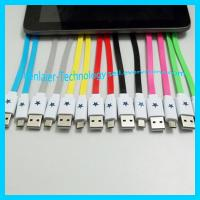 China Colorful Noodle Lighting Micro USB Cable for Smartphone on sale