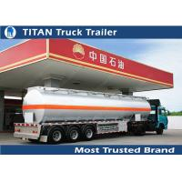 Buy cheap Aluminum alloy tractor trailer tanker for oil / chemical / liquid , semi fuel tank trailer from wholesalers