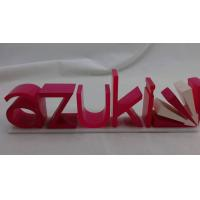 Buy cheap Transparent Cast Acrylic Display Holders , Colorful 3d Acrylic Letters product