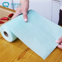 Buy cheap Wet & Dry Dualuse Tensile Abrasion Strength Degradable No-residue House Cleaning Cloth Roll from wholesalers