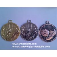 Buy cheap OEM metal soccer medals, custom embossed metal football medals from wholesalers