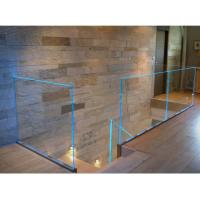 Buy cheap LED Glass Balustrade Aluminum U Channel Railing Durable For Stair Balcony Handrail from wholesalers