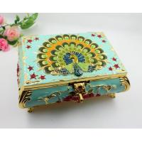 Buy cheap Shinny Gifts Small Ring Jewelry Box Glass Cover Ring Storage Box Stud Earring Box from wholesalers