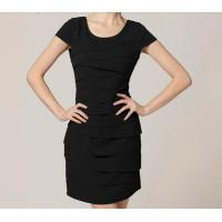 Buy cheap Eco-Friendly Breathable Career Chiffon Dress , Black Casual Midi Office Dress from wholesalers
