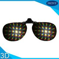 Buy cheap Plastic Clip On Diffraction Glasses 13500 Lines Fireworks Eyewear For Christmas Party Use from wholesalers
